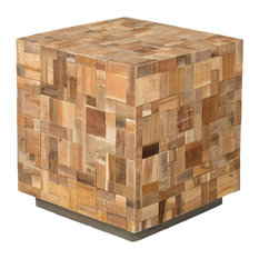 East At Main's Edith Brown Mosaic Wood Square Accent Table