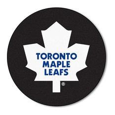 Toronto Maple Leafs Hockey Puck Area Rug