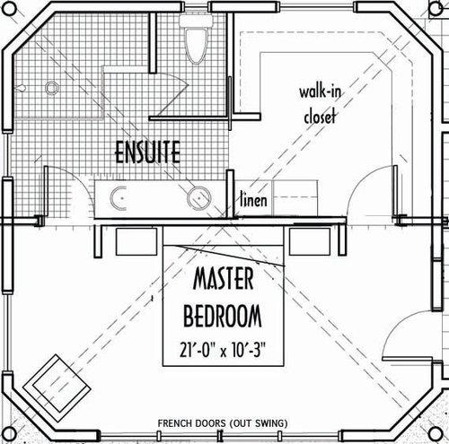 Door Options To Master Bath Walk In Closet