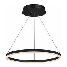 Tania Adjustable LED Chandelier, Black