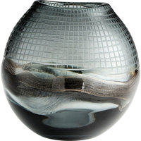 Axiom Vase in Clear And Glitter Gold