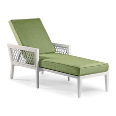 Echo Bay Chaise Lounge, White/Light Gray, Canvas Bay Brown
