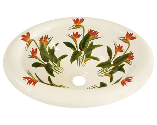 Hand Painted Sinks   Floral Designs