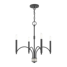 Wisteria 4 Light Mini Chandelier in Scandinavian Gray