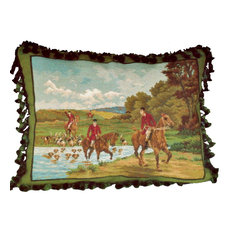 Pursuing Hunters Petit Point Pillow
