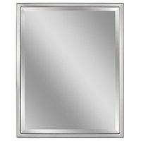 Head West Chrome Stainless Steel Framed Beveled Mirror - 30 x 40