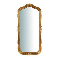 Florentine Wooden Wall Mirror, Antique Gold Leaf, Rectangular, 47x100 cm
