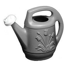 Bloem 2 Gallon Promo Plastic Watering Can With Rotating Nozzle Peppercorn