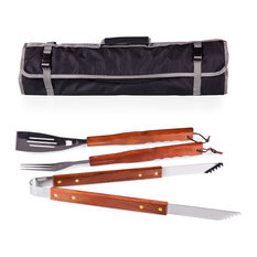 Picnic Time - 3 Piece Bbq Tote And Tools Set - Grill Tools & Accessories