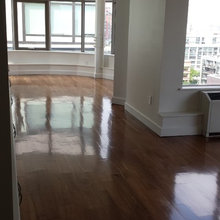 WOOD FLOOR CLEANING WITH POST GREEN CLEANING