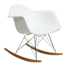 Modern Contemporary Living Room Lounge Chair White
