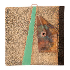 """Sabina Handmade Clay And Copper Decorative Tile, 4"""""""