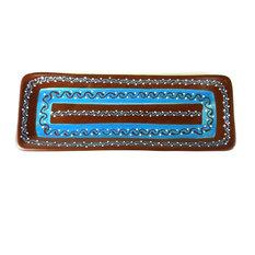 Encantada Handmade Rectangular Serving Platter, Chocolate