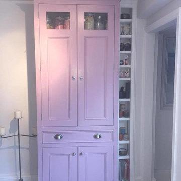Handmade Bespoke Painted Kitchen with Reclaimed Scaffold Board Worktops