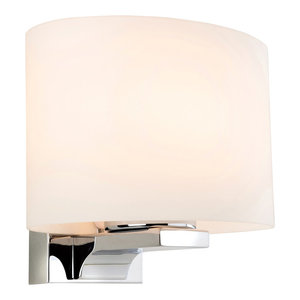 Palm Contemporary Bathroom Wall Light, Oval