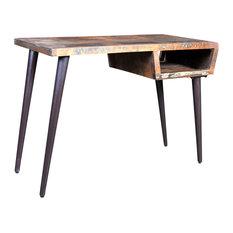 vidaXL - VidaXL Reclaimed Wood Desk With Iron Legs - Desks and Hutches