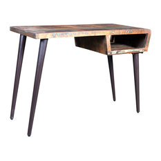 Reclaimed Wood Desk With Iron Legs