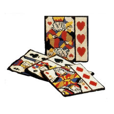 Card Suit Coasters, Set of 4