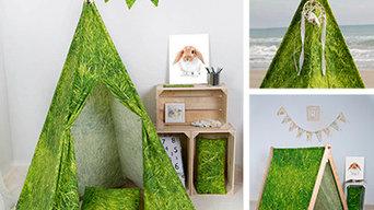 Tipis para habitaciones infantiles creados en nuestro taller