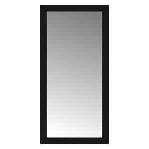 "24""x48"" Custom Framed Mirror, Smooth Black"