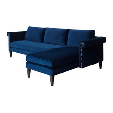 Nathaniel Sectional Sofa, Navy Blue   Sectional Sofas