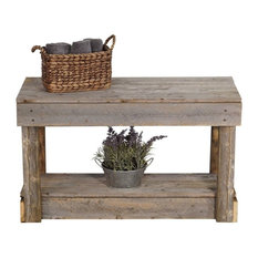 Del Hutson Designs   Barnwood Entry Bench, Natural   Accent And Storage  Benches