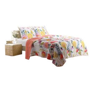 The Pillow Collection Cadeau Floral Bedding Sham Orange European//26 x 26