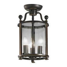 Pasillo Ironwork 3-Light Flush Lantern, Bronze