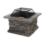 Concrete Wood-Burning Fire Pit
