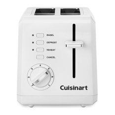 White Compact Plastic Toaster, 2-Slice