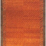 Rugknots - Tiger Orange/Amber/Clay Southwestern Rug - Multiple Sizes, 9'6x13'6 Rectangle - The perfect focal point for your interior design is a bold rug like this Indian rug from our Desert Gabbeh Collection. It features a plush pure wool pile in three different orange tones that makes this floor piece great for adding warmth in any space. Showcasing a warm color palette, this rug is sure to create a more inviting and cozy space for homeowners and guests alike.