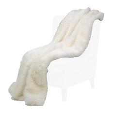 Bethany Faux Fur Throw by Michael Amini