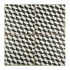 """17.75""""x17.75"""" Royals Ceramic Floor/Wall Tiles, Espiga"""