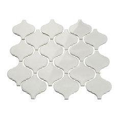 """3""""x3"""" Porcelain Arabesque Tile, Set of 18, Light Gray"""