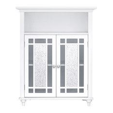 Wooden Bathroom Floor Cabinet Doors White