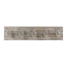 """6 BROWN ARTS /& CRAFTS STYLE WALL HOOKS HANGERS 4.75/"""" CAST IRON rustic hardware"""