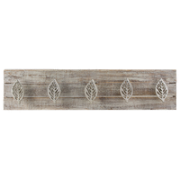 Leaves Wood/Metal Coat Rack Wall Hooks