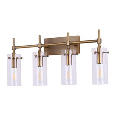 Effimero 4-Light Wall Sconce, Antique Brass