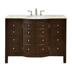 "48"" Transitional Single Sink Bathroom Vanity, Distressed Finish"