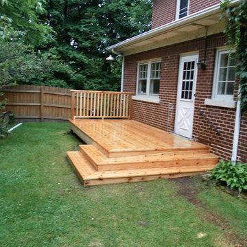 Cedar Deck with Wrap Around Stairs
