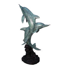 Two Dolphins Bronze Fountain Sculpture