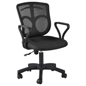 Swivel Chair With Backrest and Comfortable Padded Seat, Simple Modern Design