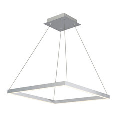 Atria Adjustable LED Chandelier, Silver