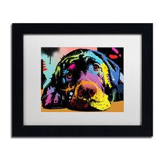 """Dean Russo 'Lying Lab' Framed Art, Black Frame, 11""""x14"""", White Matte"""