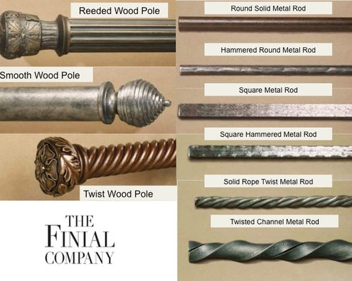 Wood Curtain Poles I Metal Rods Finial Company