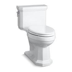 Kohler Kathryn Comfort Height Compact Elongated 1.28 GPF Toilet, White
