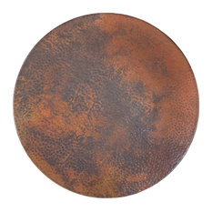 """Hammered Copper Lazy Susan, Tempered Copper, 12"""""""