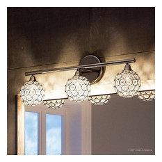Luxury Crystal Globe Chrome Bathroom Vanity Light, UQL2631, Rome Collection