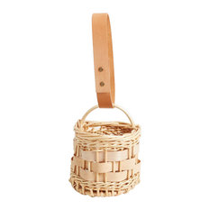 Handmade Willow Block Basket by Hilary Burns, I