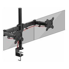 Modern Dual Monitor Arm, 180 Degrees Swivel and 360 Degrees Rotate